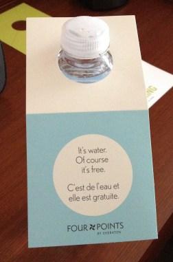 A l'hôtel de Calgary: normalement ces bouteilles de flotte coûtent la peau des fesses!