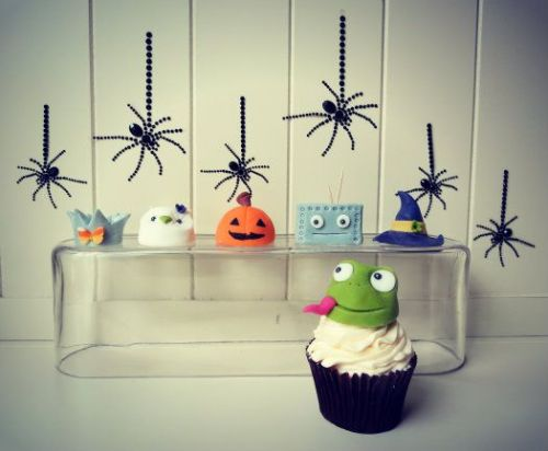 Cupcakes halloween amusants