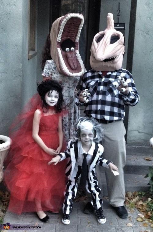 Se déguisement en famille pour Halloween en Beetlejuice