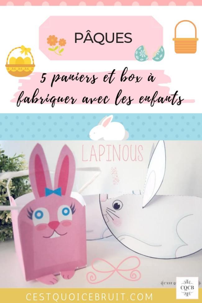 DIY panier de Pâques pour amuser les enfants et ramasser les chocolats #paques #easter #DIY #panier #lapin #kids
