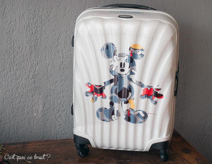 Celle qui partait à Disney avec sa valise Disney ! Disney by samsonite (valise Cosmolite)