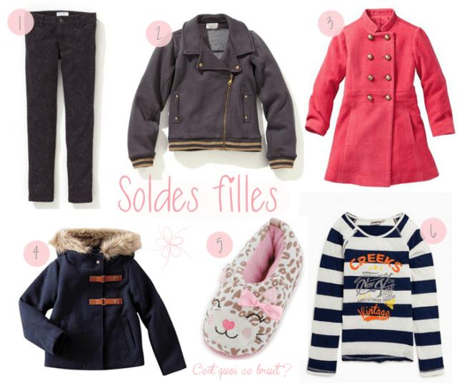 sélection shopping de soldes pour les petites filles