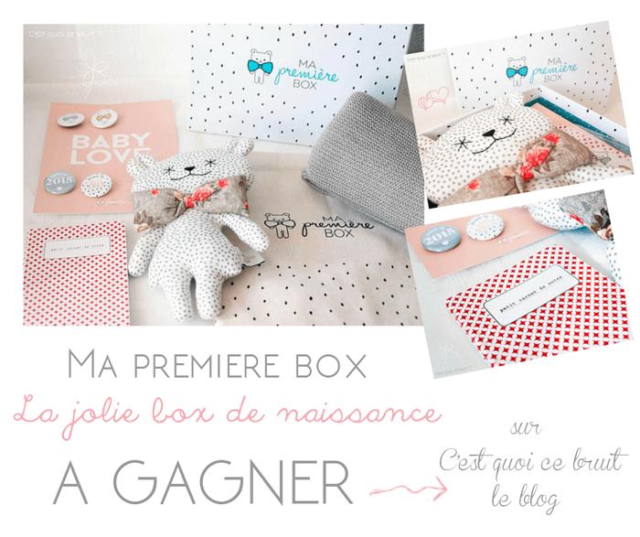 LE cadeau de naissance Ma première box