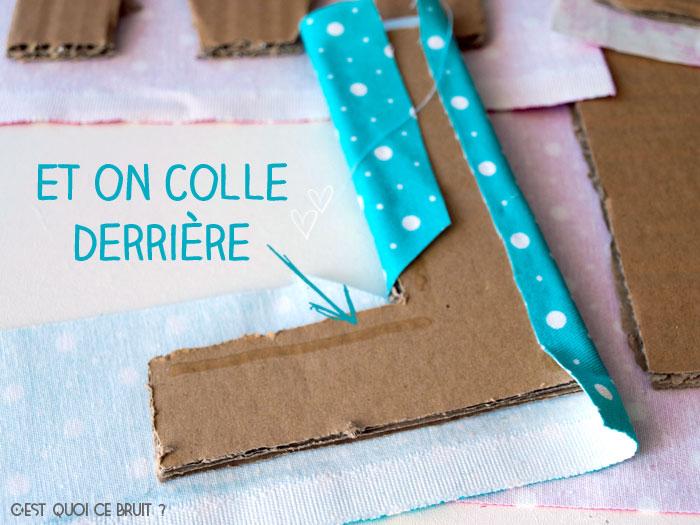 Fabriquer son prénom en lettres géantes et tissu