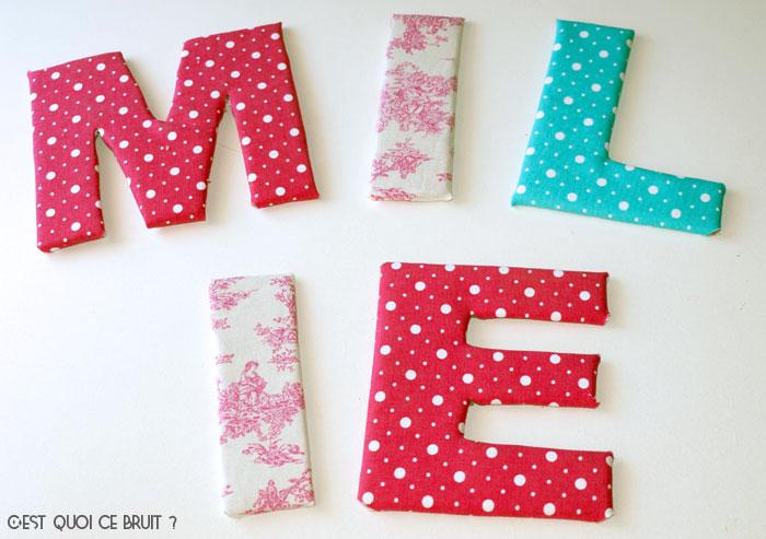 DIY Fabriquer son prénom en lettres géantes et tissu