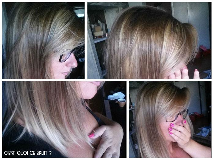 Coloration blonde écaille de tortue ombre hair