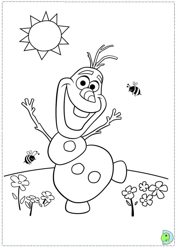 Coloriages la reine des neiges à imprimer : Olaf
