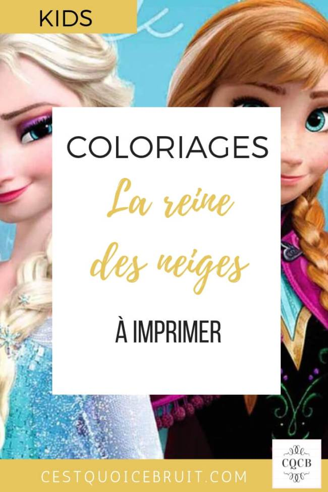 Coloriages La Reine Des Neiges à Imprimer