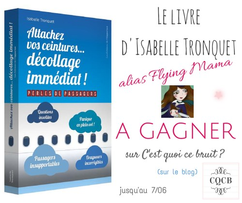 Attachez vos ceintures, décollage imminent, le livre d'Isabelle Tronquet alias Flying Mama