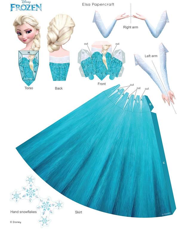 Activités à imprimer la reine des neiges : papercraft Elsa
