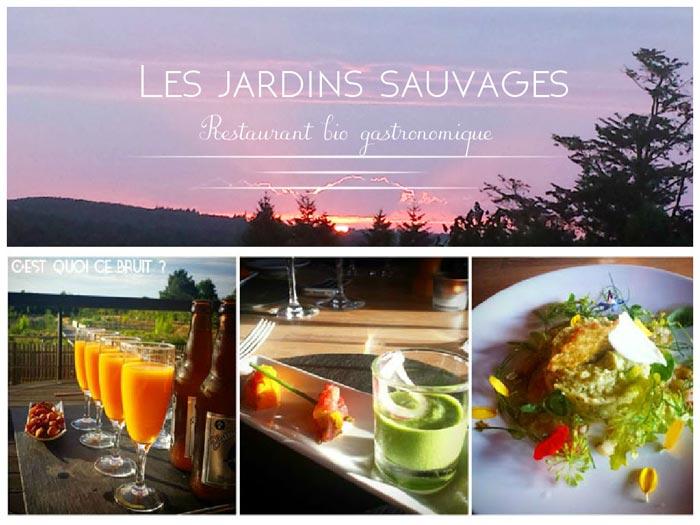 Les jardins sauvages, le restaurant bio et gastronomique de La Grée des Landes