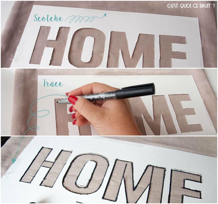 Fabriquer un pochoir à lettres pour relooker un coussin