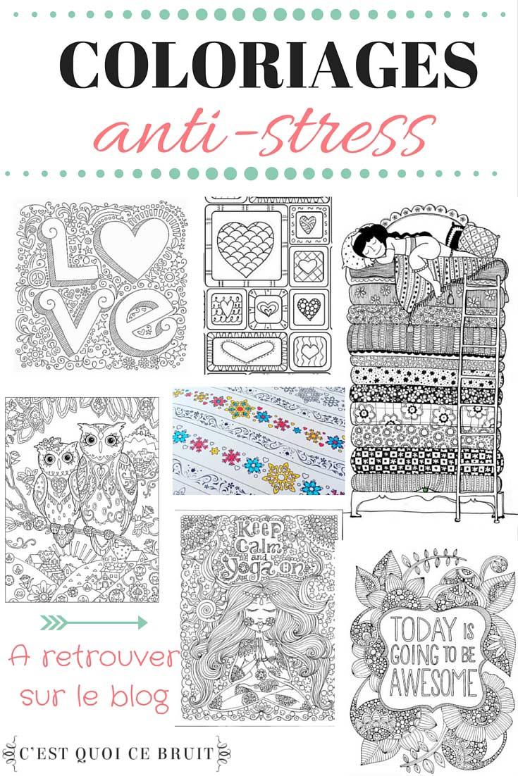 Coloriages anti-stress pour adulte à imprimer ou à s'offrir