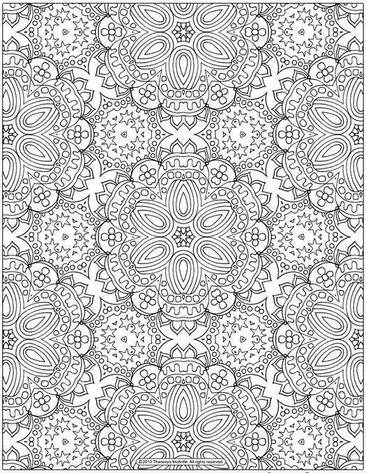Coloriage anti-stress à imprimer gratuitement