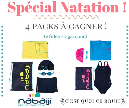 Equiper les enfants pour la natation : 4 kits Nabaij à gagner