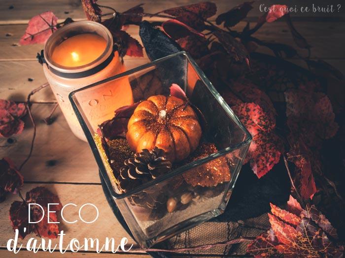 Déco d'automne, le centre de table DIY