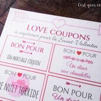 Des bons d'amour à imprimer pour la Saint-Valentin