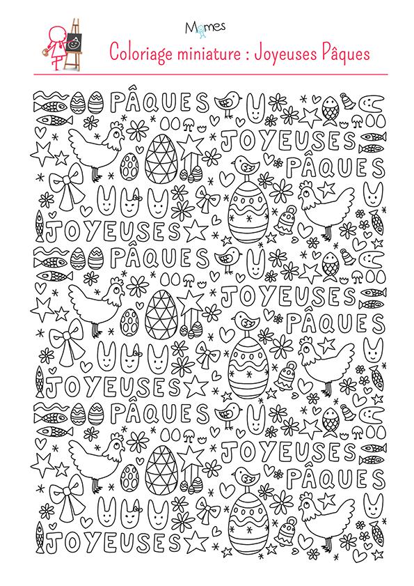 Coloriage Paques A Imprimer Gratuitement.Coloriages De Paques Pour Les Enfants