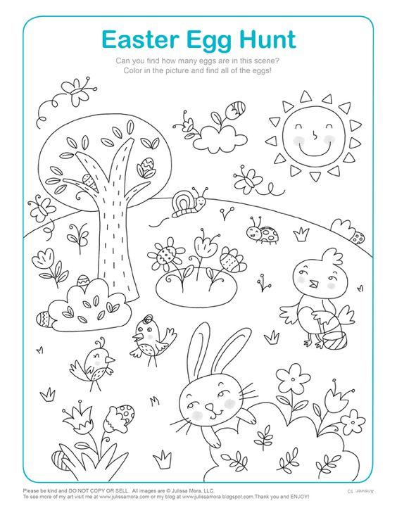 Chasse aux oeufs de Pâques à imprimer