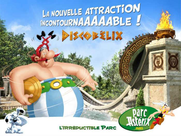 Parc Astérix 2016, nouvelle attraction Discobélix