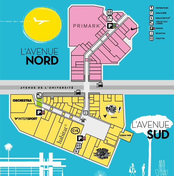 Plan des enseignes de L'Avenue 83