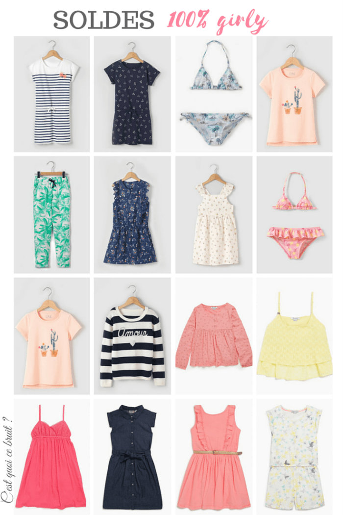 soldes 100 % girly pour petites filles