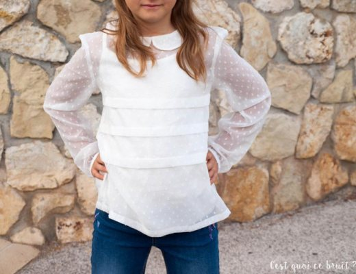 Mode enfant, look de fille en denim