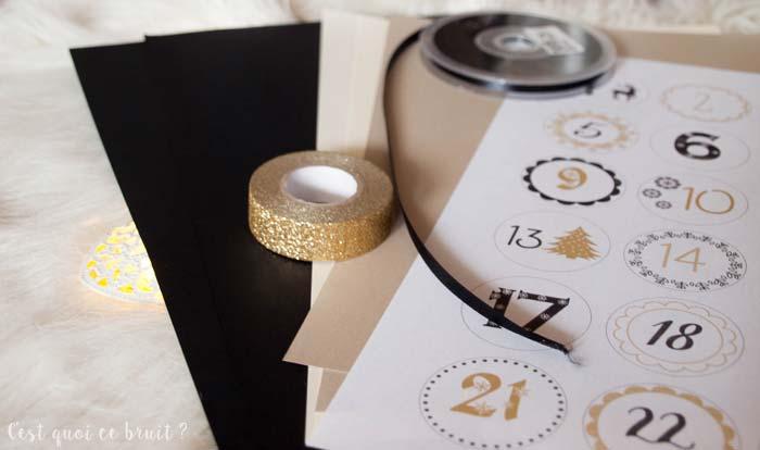 Calendrier de l'Avent DIY : les berlingoits noirs et dorés