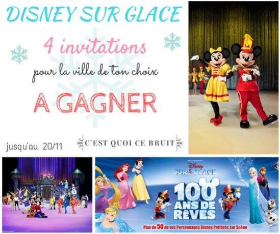 Viens t'éclater avec Disney sur glace #concours