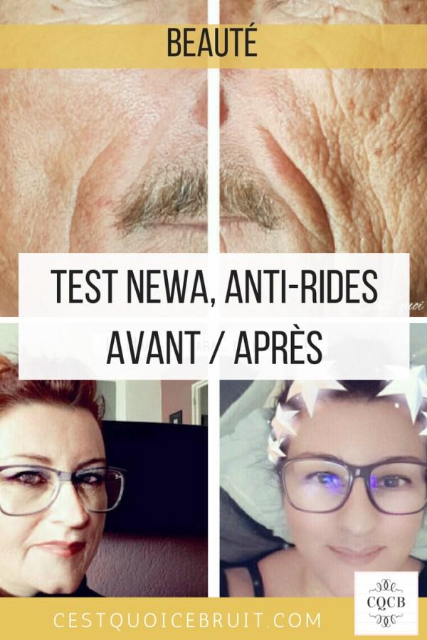 Test newa avant après, anti-rides pour retrouver une peau lisse et repulpée #beauté #newa #rides