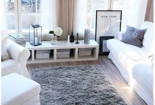 Décoration scandinave salon tapis