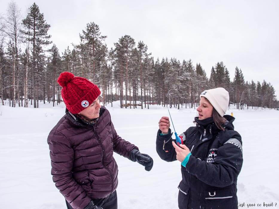 Laponie Finlandaise : pêche blanche