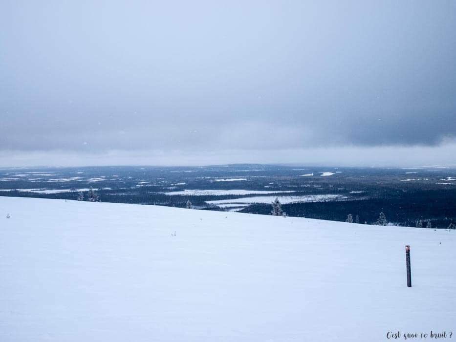 Laponie Finlandaise : motoneige au mont Ylläs