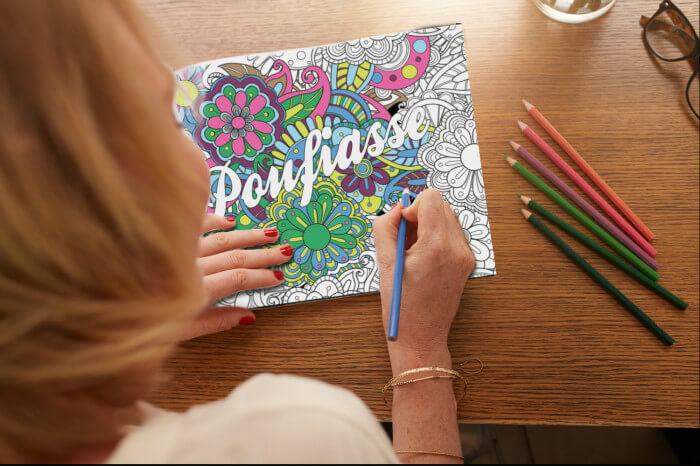 Un livre d'injures à colorier à s'offrir pour la journée du coloriage