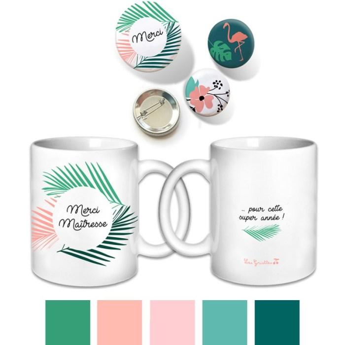 Cadeau pour la maîtresse ou ATSEM ou nounou, le mug merci maîtresse
