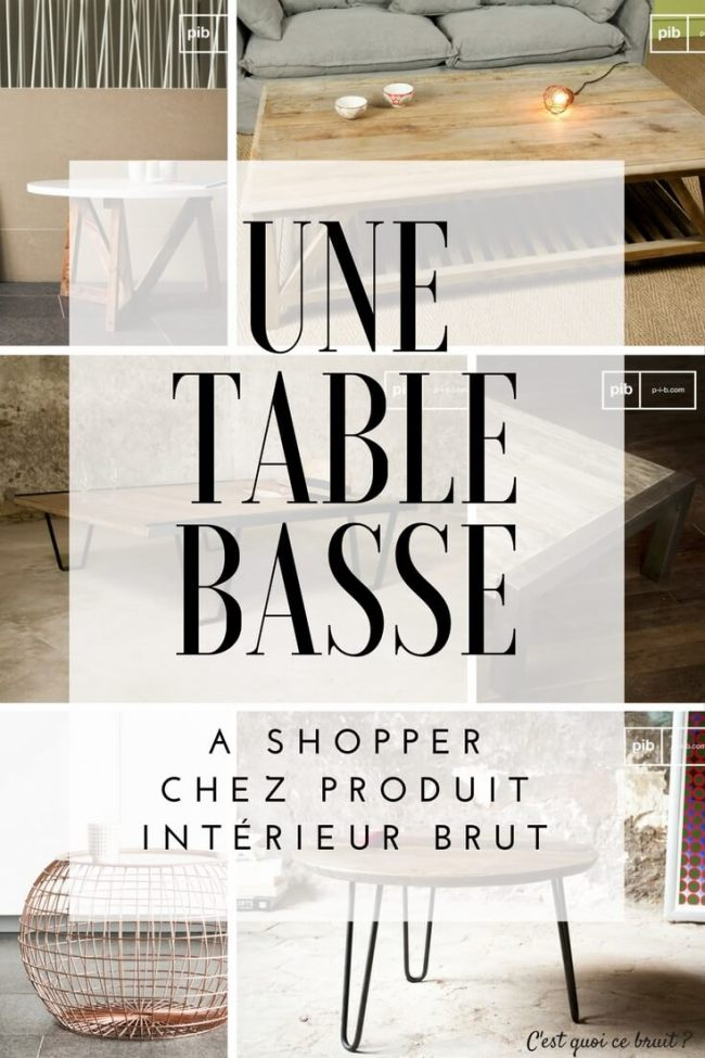 Une table basse à shopper chez PIB #décoration #industriel #scandinave #deco #home #table
