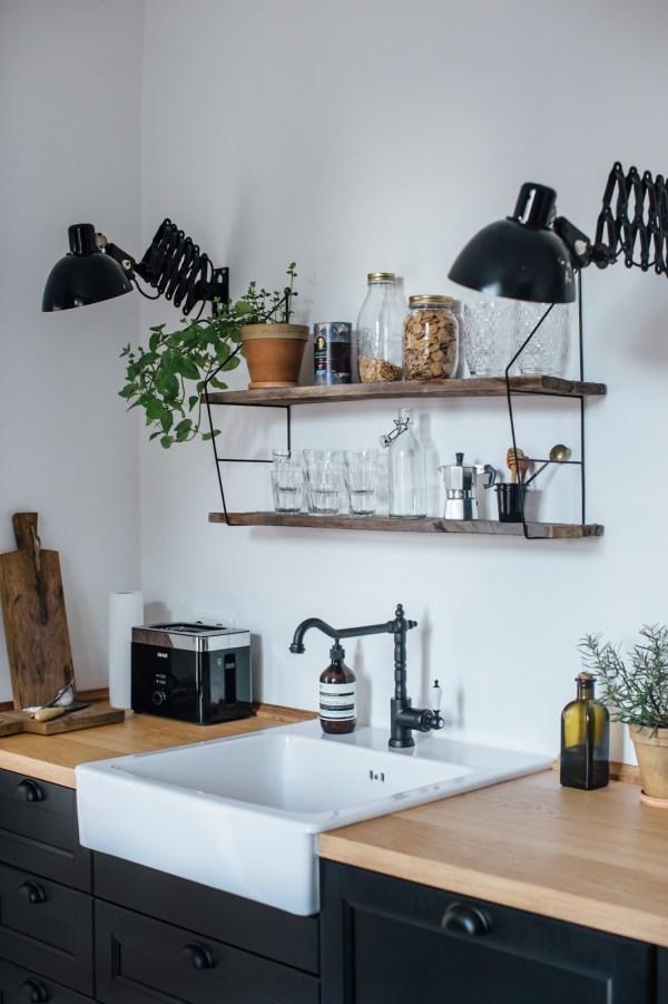 Inspiration déco pour la cuisine : le robinet noir