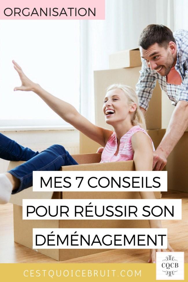 Organisation : mes 7 conseils pour réussir son déménagement sans stress #déménagement #famille #organisation #zen #stress #feelgood