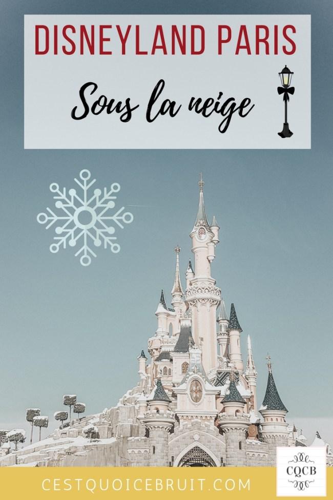 Disneyland Paris sous la neige #disney #disneylandparis #familytrip