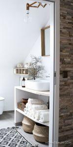 Salle de bain scandinave, inspiration déco