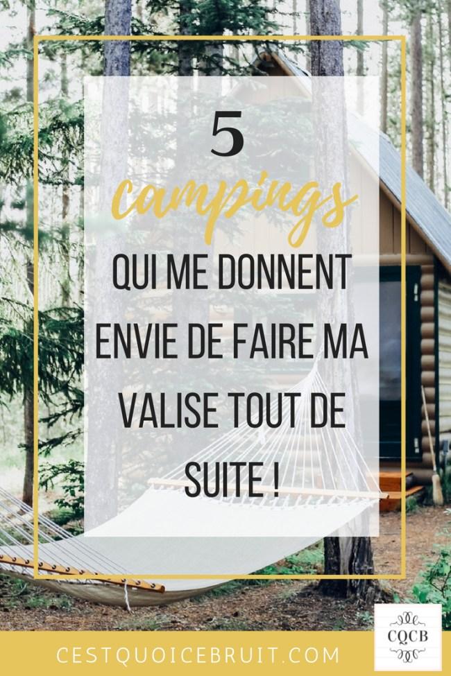 5 campings qui font rêver #glamping #camping #voyage