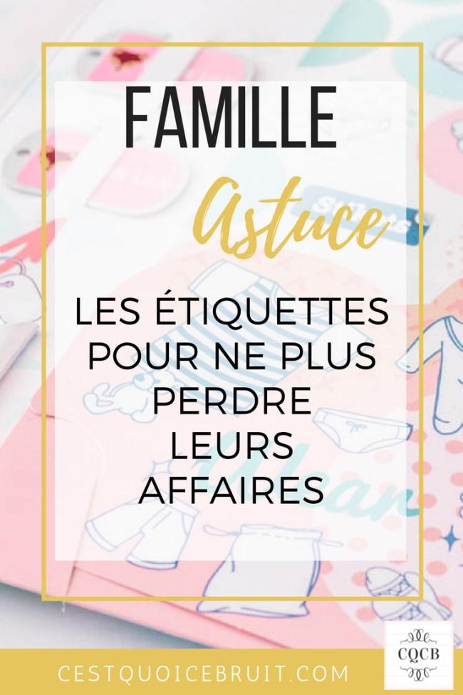 Famille et enfants : ne plus perdre leurs affaires grâce aux étiquettes #famille #organisation #concours #test #kids #école