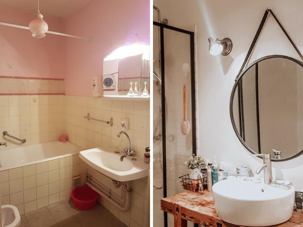 Deco Salle De Bain Avant Apres l'avant-après de rénovation de la salle de bain