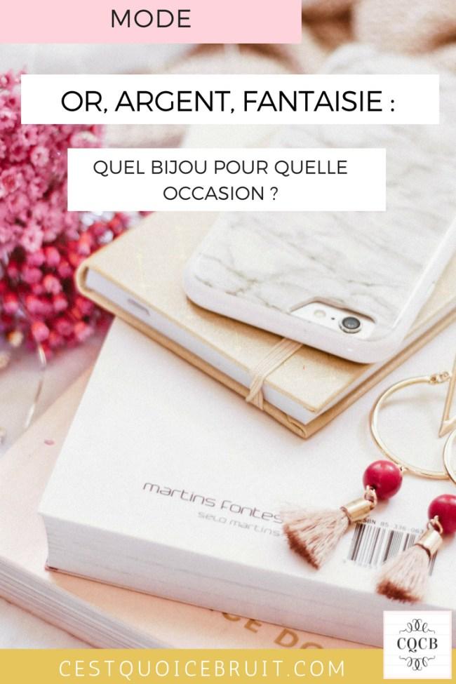 Quel bijou pour quelle occasion ? #bijou #mode #fashion #conseils