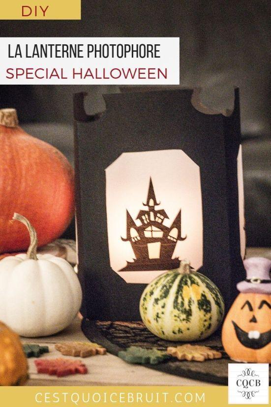 DIY Halloween, lanterne photophore, tuto pas à pas #halloween #diy #tuto #decoration #craft #halloweencraft