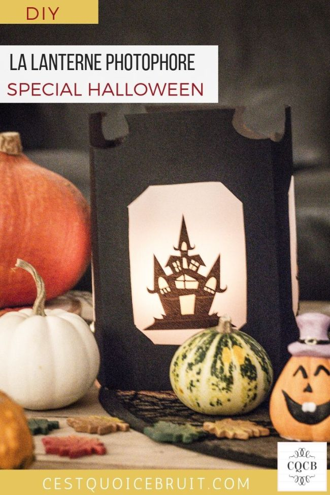 DIY Halloween, lanterne photophore, tuto pas à pas #halloween #diy #tuto #decoration #craft #halloweencraft
