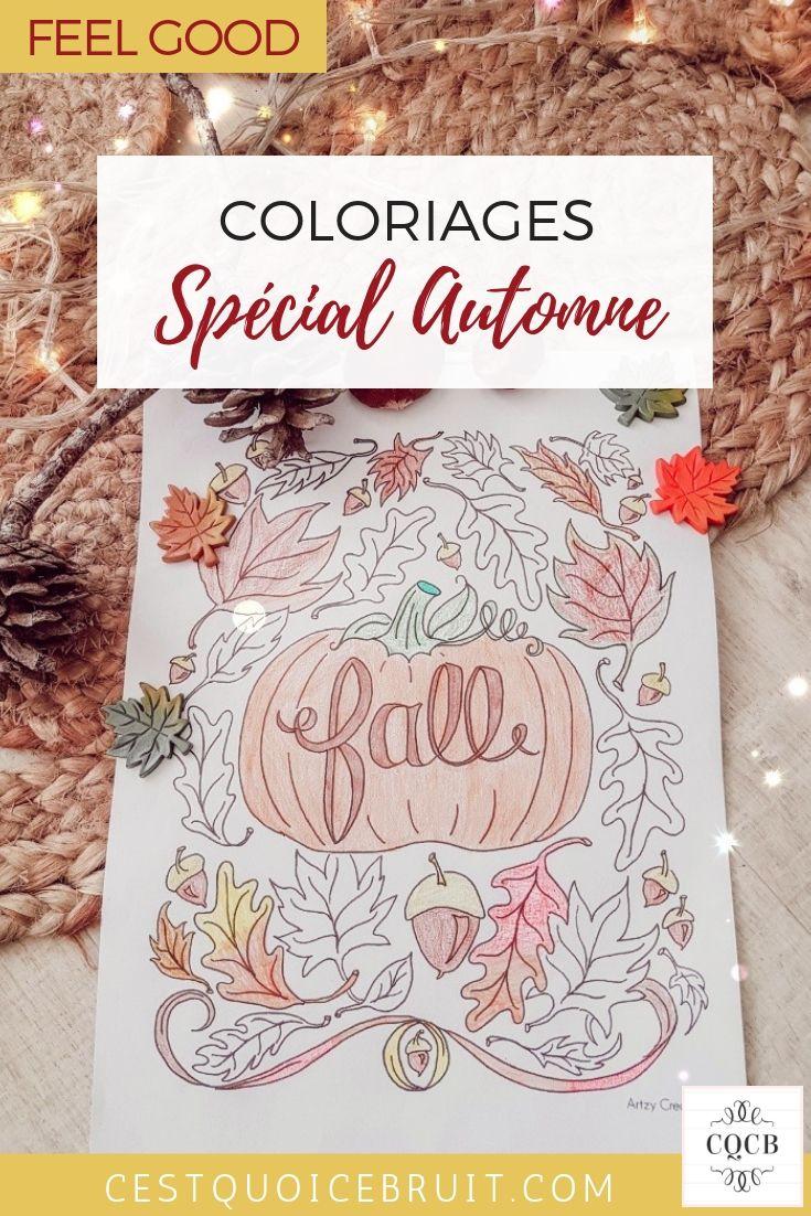 Coloriages d'automne pour enfants et adultes à imprimer gratuitement #coloriages #automne #fall #kidsactivity