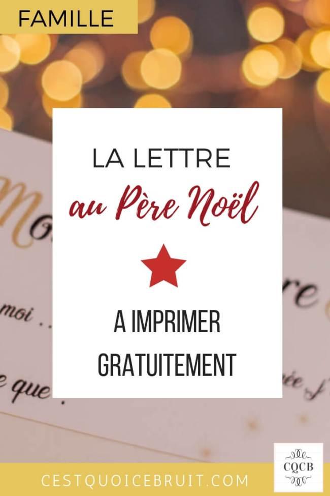 Lettre au Père Noël à imprimer gratuitement avec la liste des cadeaux des enfants #liste #noel #christmas #cadeaux #famille