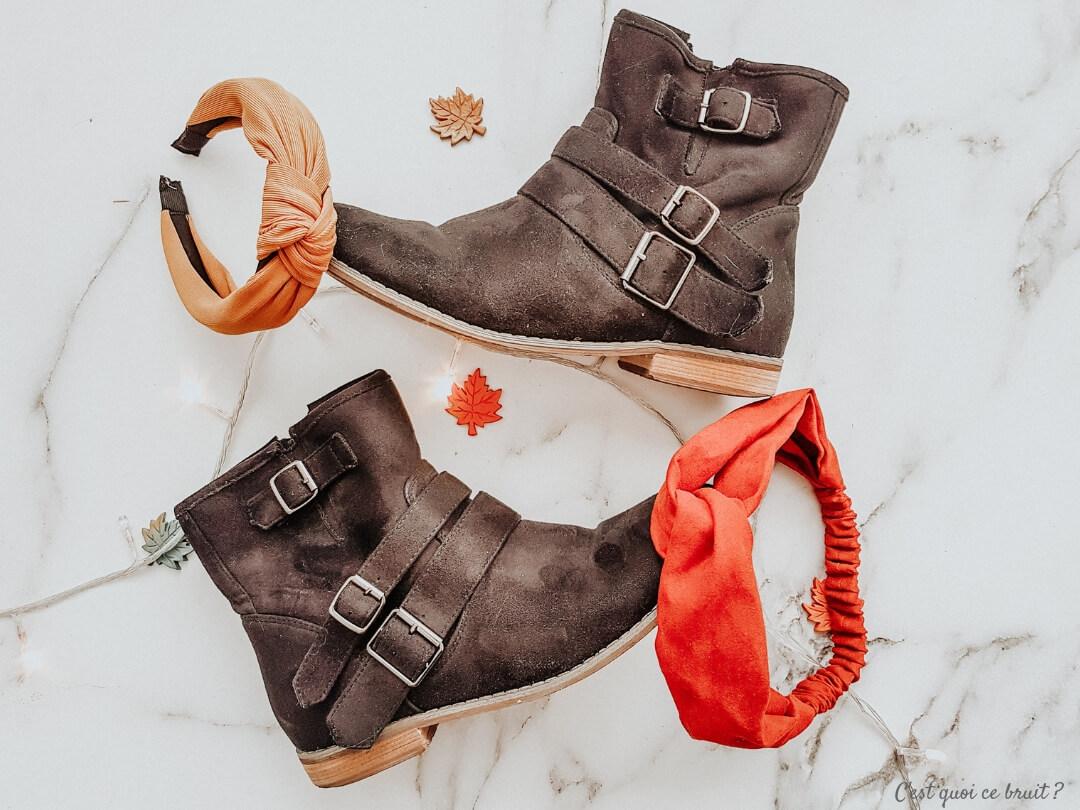Looks d'automne, mes accessoires préféfés : boots et bandeaux cheveux