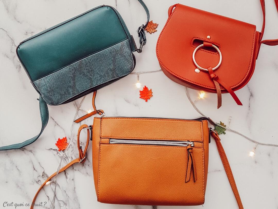 Looks d'automne, mes accessoires préféfés : mes sacs colorés